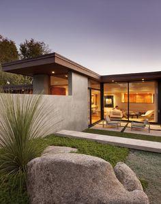 Clean lines. Mid Century Modern exterior Montecito Mid-Century - midcentury - exterior - santa barbara - Allen Associates