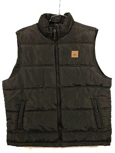 Men's Vest Field & Stream Outdoor Puffer sz XL Black  #FieldStream #Puffer