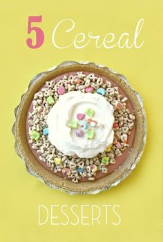 Happy National Cereal Day! There are some pretty amazing things you can do besides just pour milk over it. #desserts