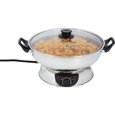 Features: Exterior Mirror Finish Adjustable Temperature Control Phenolic Knob & Handles See-Thru Glass Lid Non-Slip Feet UL Certification Cooking Surface Measures x Rice Cooker, Slow Cooker, Kitchen Corner, Cook At Home, Hot Pot, Small Kitchen Appliances, Skillet, Crock, Clean Eating