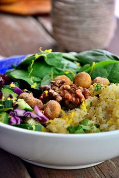 Crunchy Walnut and Macadamia Nut Quinoa Salad