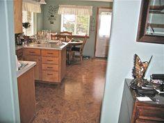 cork floor.