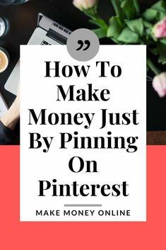 Ways To Earn Money, Earn Money From Home, Earn Money Online, Make Money Blogging, Way To Make Money, Money Tips, How To Make, Saving Money, Make Money From Pinterest