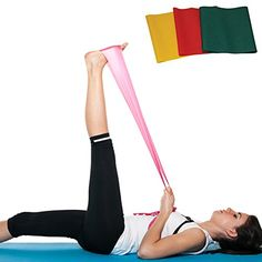 Set of 3 Resistance Bands Latex 5 ft for Full Body Exercise Workout Stretch Strength for arms legs thighs butt squats abs beachbody and physical therapy Increase Mobility No Joint Pain >>> Read more reviews of the product by visiting the link on the image.