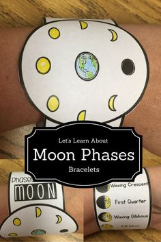 Need a fun and easy way to differentiate and teach your students the phases of the moon? Want to have something the students can wear and be reminded of the day's moon phases lesson once they were home? Moon Phases bracelets can make learning way cool and