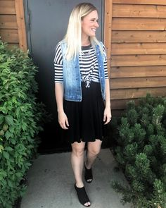 fbc8bdec979 Summer outfit idea featuring  LuLaRoe  Knotted Irma Carly denim vest   fun  summer layering