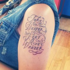 """My latest and greatest tattoo. """"Take me deeper than my feet could ever wander."""" Oceans by Hillsong United"""