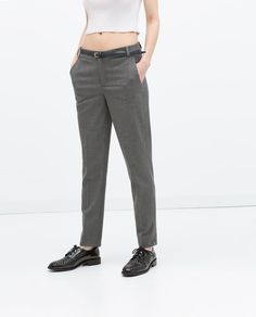 17/99 PINSTRIPE TROUSERS WITH BELT from Zara