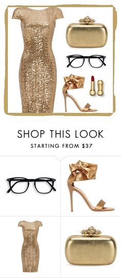 """Untitled #544"" by claire394 ❤ liked on Polyvore featuring Gianvito Rossi, Badgley Mischka and Alexander McQueen"