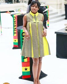 in her M&K at the Ghana Tourism Summit in UK👏 TGIF Ankara Dress Styles, Kente Styles, African Fashion Ankara, Latest African Fashion Dresses, African Dresses For Women, African Print Fashion, African Attire, African Women, Ankara Gowns