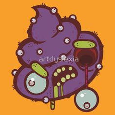 Zombie Alien Poop T-shirt by Artistic Dyslexia. artisticdyslexia.com Also available in Adult and Children's Apparel; Leggings; Prints, Posters and Cards; Stickers; iPhone, iPod, iPad and Samsung Cases; iPhone and iPad Skins; Throw Pillows; Mugs; Travel Mugs; Duvet Covers and Tote Bags!