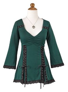 Shirts & Tops - Grommeted Lace-up Top Irish Clothing, Historical Clothing, Roman Clothes, Modern Gypsy, Summer Clothing, Diy Shirt, Spring Collection, Lovely Things, Everyday Fashion