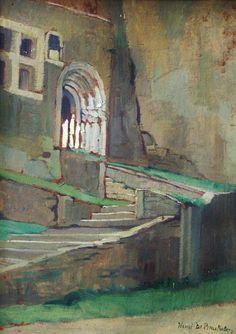 Art -  Impressionism - Henri De Braekeleer -The Gotic gate