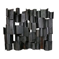 Harry Balmer; Welded and Patinated Steel Screen, 1960s.