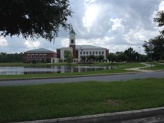New Nassau County Courthouse in Yulee, Florida.  The original Courthouse is about 13 miles away in Fernandina Beach.  This one is fairly near I-95. Picture taken in 2014 by Paul Chandler.