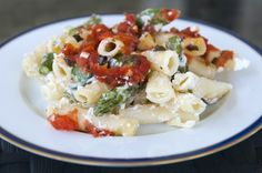 Baked Ziti With Asparagus and Fresh Tomato Sauce