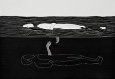 Pigment liner and marker and ink on paper, 2009-14 | by Daehyun Kim Sinking of you
