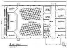 church plan 124 lth steel structures - Church Building Design Ideas