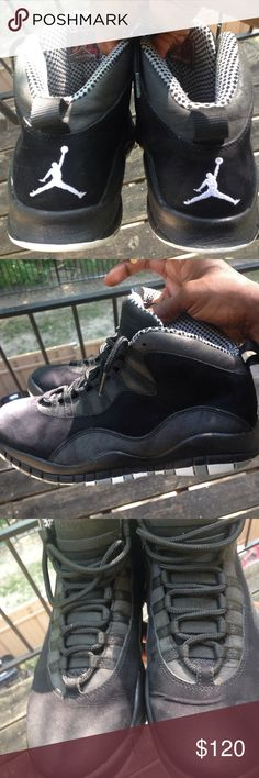 694232a720c85f Air Jordan Retro 10 Stealth Rare Condition Plus They 4 Years Old But Its A  Minor Scuff On Tha Front Left Shoe Air Jordan Shoes Sneakers