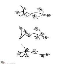 Tatuaggio di Rametto di edera, Fedeltà, caparbietà tattoo - TattooTribes.com
