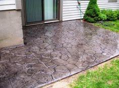 Piso de cemento para porche pisos pinterest for Cemento estampado precio