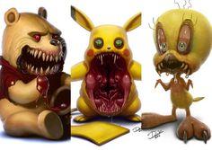 Beloved Cartoon Critters Made Absolutely Horrifying Zombie Drawings, Badass Drawings, Dark Art Drawings, Horror Cartoon, Zombie Cartoon, Horror Comics, Evil Cartoon Characters, Childhood Characters, Arte Horror