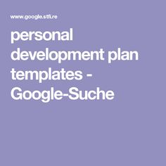 personal development plan templates - Google-Suche