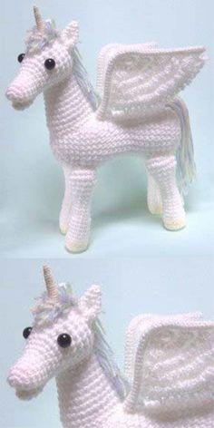 Amigurumi Pegasus Unicorn