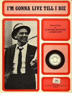 I'M Gonna Live Till I Die Frank Sinatra '73 Sheet Music | eBay