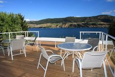 Perfect deck. Perfect Okanagan Lake view. Just need the perfect glass of wine..