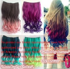 X&Y ANGEL -New One Piece Long Curl/curly/wavy Synthetic Thick Hair Extensions Clip-on Hairpieces 26 Colors (black)