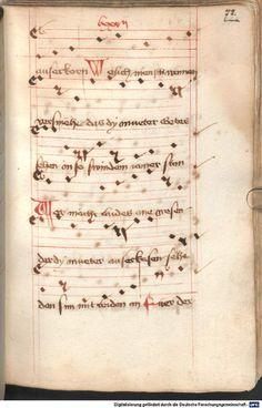 Mönch von Salzburg. Oswald von Wolkenstein: Geistliche Lieder mit Melodien Bayern/Österreich, erste Hälfte 15. Jh. Cgm 715  Folio 72