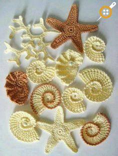 Knitting Applique Patterns – Crochet Appliques for Baby Knitting Patterns - Blumen Art Au Crochet, Crochet Diy, Love Crochet, Irish Crochet, Crochet Crafts, Crochet Flowers, Crochet Projects, Crochet Starfish, Crochet Pillow