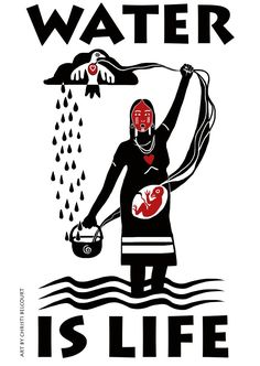 """Christi Belcourt on Twitter: """"#WaterisLife Banner avail free 2 download 4 water protectors & actions ( non-profit/non-commercial use only)"""