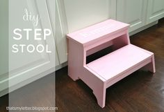 """That's My Letter: """"K"""" is for Kids Step Stool Ana white plan Building Furniture, Kids Furniture, Painted Furniture, Diy Stool, Step Stools, Knock Off Decor, Kids Wood, Inspiration For Kids, Ana White"""