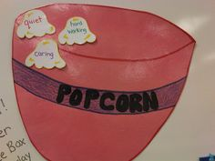 classroom management - when you catch the whole class being good add a popcorn piece. When the bowl is full throw in a movie and start popping!
