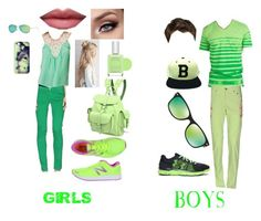 """""""Boys And Girls Green Clothing"""" by lovetaylorswift-388 ❤ liked on Polyvore featuring Jealous Tomato, Fornarina, New Balance, Grafea, Casetify, Ray-Ban, Pop Beauty, Hurley, Saddlebred and Jeckerson"""