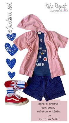 .dicas e truques para montar looks kids super descolados, usando o guarda-roupas. Rompers, The Originals, Shorts, Cool Stuff, Dresses, Fashion, Bedroom Cupboards, Tips And Tricks, Sweater Hoodie