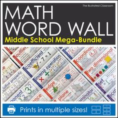 How to plan student centered math activities middle school maths math word wall for middle school fandeluxe Gallery