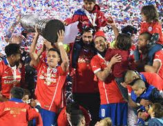 Chile Argentina pens): Alexis Sanchez scores winning penalty Alexis Sanchez gets his hands on the hefty Copa America trophy as members of the team are joined by their family in celebrating. Alexis Sanchez, Paul Pogba, Gareth Bale, Arsenal Fc, Sport Man, Lionel Messi, Cristiano Ronaldo, Champion, Soccer