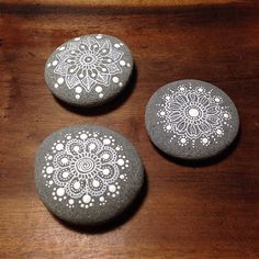 Flower Mandala Painted Pebbles | by MagaMerlina