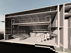 Theatre | Live Design Group: Black Box Theatre Design - Architectural Model Cutaway