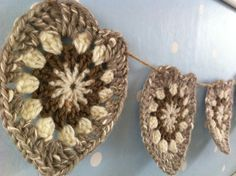 Beautiful Natural crochet heart bunting on jute by Bcreations85, £10.00