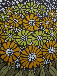70s scandiavian floral fabric