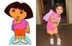 real life cartoon character dora the explorer