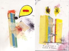 I just need a minute to think - art journal page by Amanda Hawkins