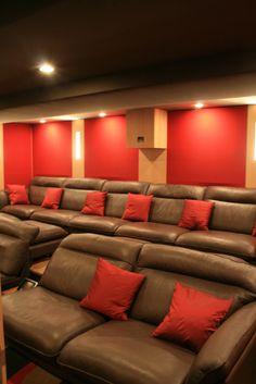 Maison et cin ma salle de cin ma la maison pinterest - Salle de cinema privee ...