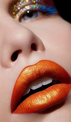 Celosia orange was actually a spring pick for Pantone but theres enough warmth and magnetism in this hue to carry it through seasons to come. Dress Makeup, Lip Makeup, Beauty Makeup, Airbrush Makeup, Makeup Inspo, Lip Art, Pantone, Beauty Video Ideas, Melt Cosmetics