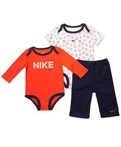 Nike Baby Set, Baby Boys 3 Piece Bodysuit and Pant Set - Kids - Macy's