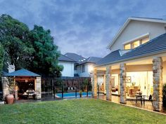 Oudoor barbeque ideas | Outdoor living design with bbq area from a real Australian home ...